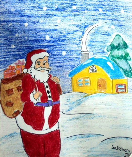 Christmas Posters By Junior Classes The Indian School