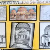 SKETCHING OF MONUMENT, FIROZ SHAH TOMB, CLASSES 8 TO 11