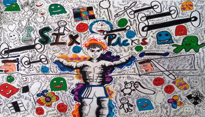 DOODLE ART BY CLASSES VI-VII