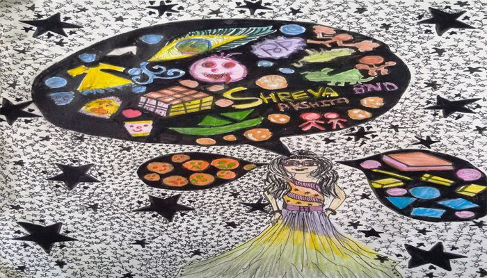 DOODLE ART BY CLASSES VI-VII