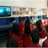 Video conference with Parivartan School, Ghaziabad.