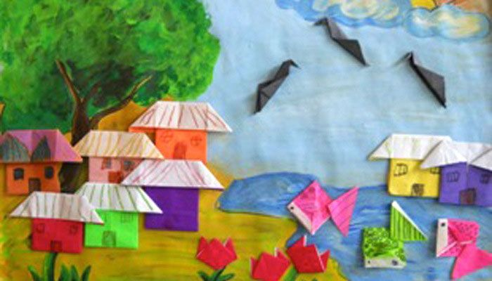ORIGAMI ART: GROUP ACTIVITY, CLASS 1 & 2