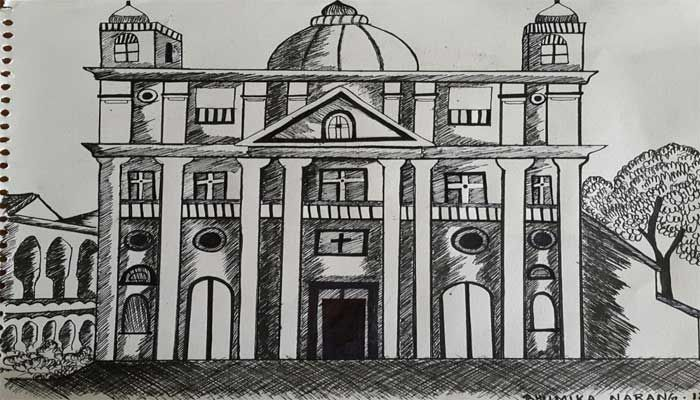 Architectural Drawing in pen and ink technique