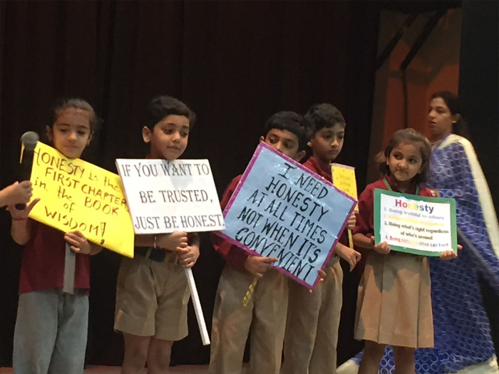 Special assembly by class 2 A on Honesty | The Indian School